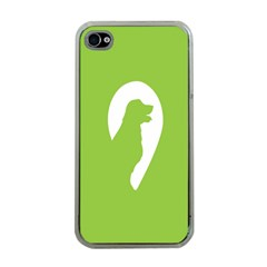 Dog Green White Animals Apple iPhone 4 Case (Clear)