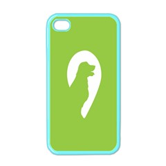 Dog Green White Animals Apple iPhone 4 Case (Color)