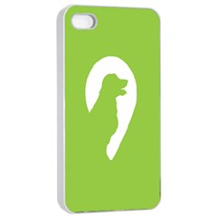 Dog Green White Animals Apple iPhone 4/4s Seamless Case (White)