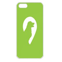 Dog Green White Animals Apple iPhone 5 Seamless Case (White)