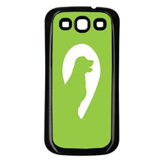 Dog Green White Animals Samsung Galaxy S3 Back Case (black)