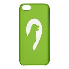 Dog Green White Animals Apple iPhone 5C Hardshell Case