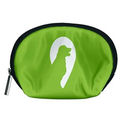Dog Green White Animals Accessory Pouches (Medium)