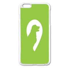 Dog Green White Animals Apple iPhone 6 Plus/6S Plus Enamel White Case