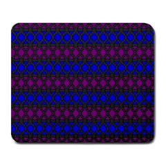 Diamond Alt Blue Purple Woven Fabric Large Mousepads