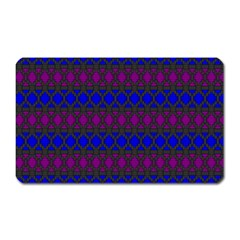 Diamond Alt Blue Purple Woven Fabric Magnet (Rectangular)