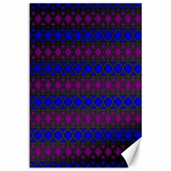 Diamond Alt Blue Purple Woven Fabric Canvas 12  x 18
