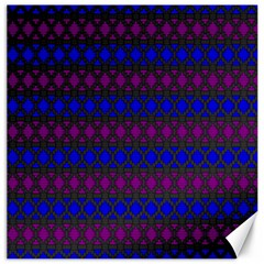 Diamond Alt Blue Purple Woven Fabric Canvas 20  x 20