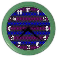 Diamond Alt Blue Purple Woven Fabric Color Wall Clocks