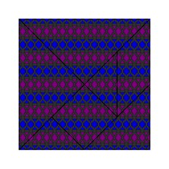 Diamond Alt Blue Purple Woven Fabric Acrylic Tangram Puzzle (6  x 6 )