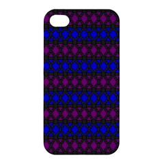Diamond Alt Blue Purple Woven Fabric Apple iPhone 4/4S Premium Hardshell Case