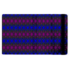 Diamond Alt Blue Purple Woven Fabric Apple iPad 2 Flip Case