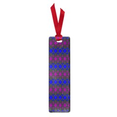 Diamond Alt Blue Purple Woven Fabric Small Book Marks