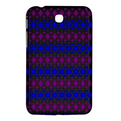 Diamond Alt Blue Purple Woven Fabric Samsung Galaxy Tab 3 (7 ) P3200 Hardshell Case