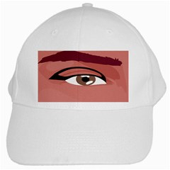 Eye Difficulty Red White Cap