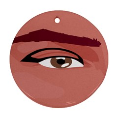 Eye Difficulty Red Ornament (Round)