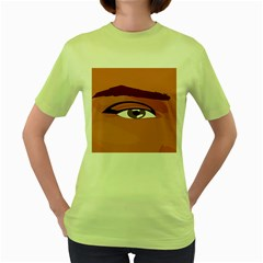 Eye Difficulty Red Women s Green T-Shirt