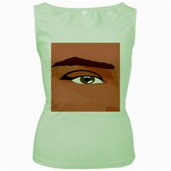 Eye Difficulty Red Women s Green Tank Top