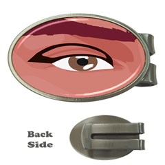 Eye Difficulty Red Money Clips (Oval)