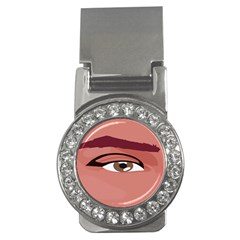 Eye Difficulty Red Money Clips (CZ)