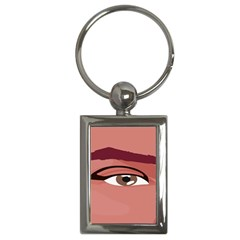 Eye Difficulty Red Key Chains (Rectangle)