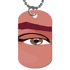 Eye Difficulty Red Dog Tag (Two Sides)