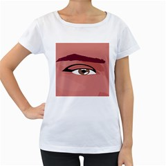 Eye Difficulty Red Women s Loose-Fit T-Shirt (White)