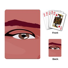 Eye Difficulty Red Playing Card