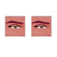 Eye Difficulty Red Cufflinks (Square)