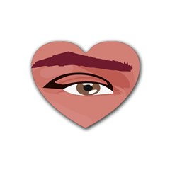 Eye Difficulty Red Heart Coaster (4 pack)