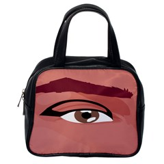 Eye Difficulty Red Classic Handbags (One Side)