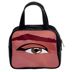Eye Difficulty Red Classic Handbags (2 Sides)