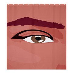 Eye Difficulty Red Shower Curtain 66  x 72  (Large)