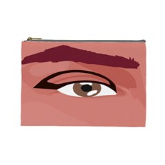 Eye Difficulty Red Cosmetic Bag (Large)