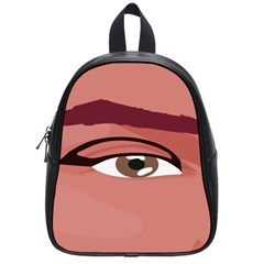 Eye Difficulty Red School Bags (Small)