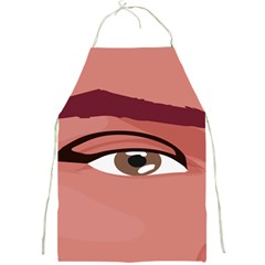 Eye Difficulty Red Full Print Aprons