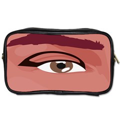 Eye Difficulty Red Toiletries Bags 2-Side