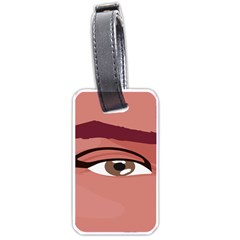 Eye Difficulty Red Luggage Tags (Two Sides)