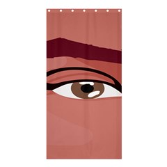 Eye Difficulty Red Shower Curtain 36  x 72  (Stall)