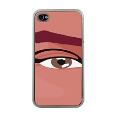 Eye Difficulty Red Apple iPhone 4 Case (Clear)