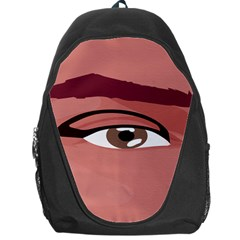 Eye Difficulty Red Backpack Bag