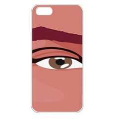 Eye Difficulty Red Apple iPhone 5 Seamless Case (White)