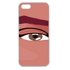 Eye Difficulty Red Apple Seamless iPhone 5 Case (Clear)