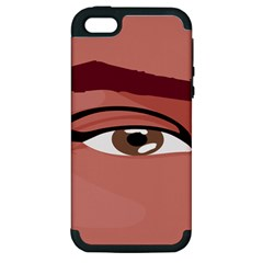 Eye Difficulty Red Apple iPhone 5 Hardshell Case (PC+Silicone)