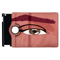 Eye Difficulty Red Apple iPad 2 Flip 360 Case