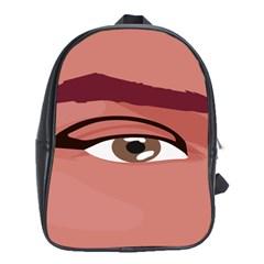 Eye Difficulty Red School Bags (XL)