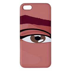 Eye Difficulty Red Apple iPhone 5 Premium Hardshell Case