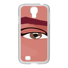 Eye Difficulty Red Samsung Galaxy S4 I9500/ I9505 Case (white)