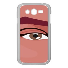 Eye Difficulty Red Samsung Galaxy Grand DUOS I9082 Case (White)
