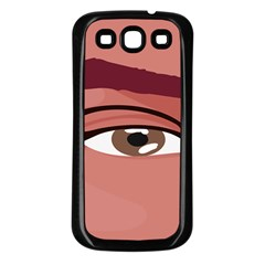 Eye Difficulty Red Samsung Galaxy S3 Back Case (black)